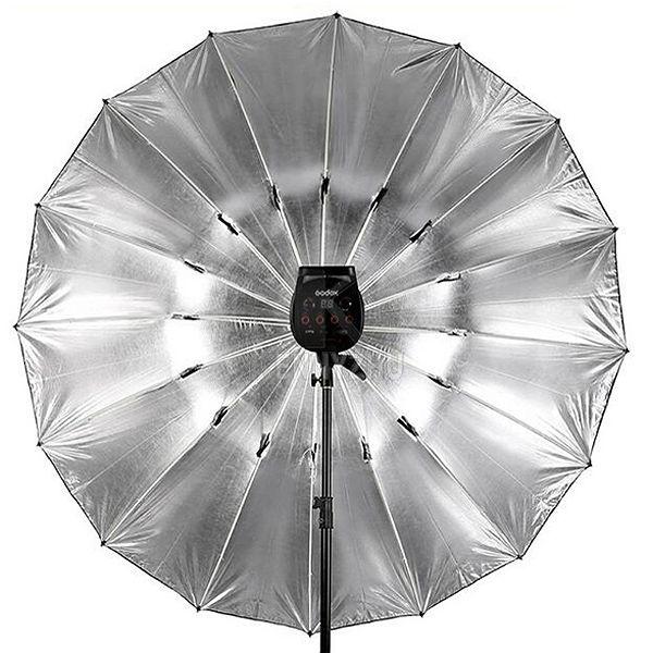 Sombrinha para Estúdio Fotográfico Rebatedora Prata - 190cm  - Diafilme Materiais Fotográficos