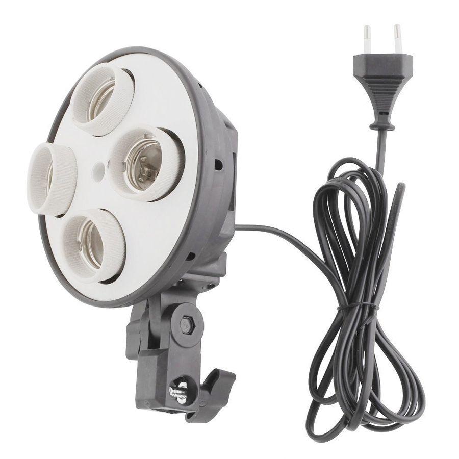 Suporte Articulado para Iluminacao de Estudio - Base E27 Quad  - Diafilme Materiais Fotográficos