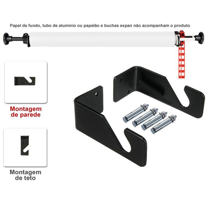 Suporte Fundo Infinito Fixo para Bucha Expan - MC1016  - Diafilme Materiais Fotográficos