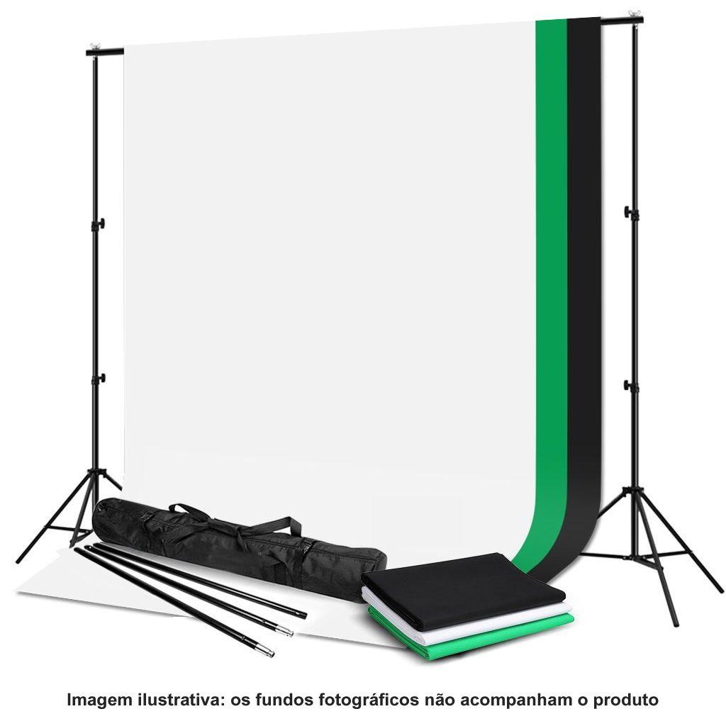 Suporte Fundo Infinito Móvel para 01 Fundo Muslin - BG2600A - 2,60m  - Diafilme Materiais Fotográficos