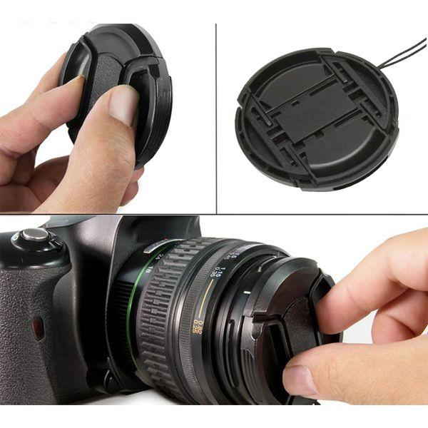 Tampa Frontal Snap On para Objetiva DSLR - 55mm  - Diafilme Materiais Fotográficos