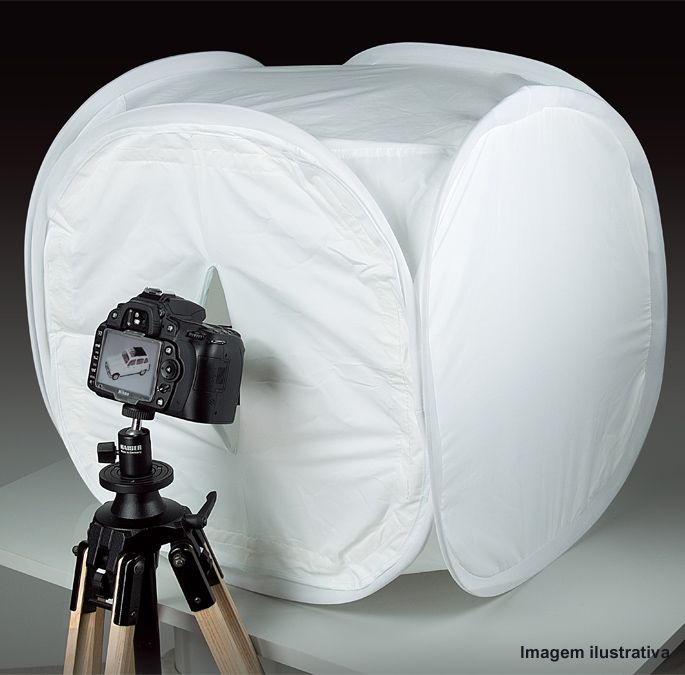 Tenda Difusora Dobrável Portátil Mini Estúdio - 50x50x50cm  - Diafilme Materiais Fotográficos