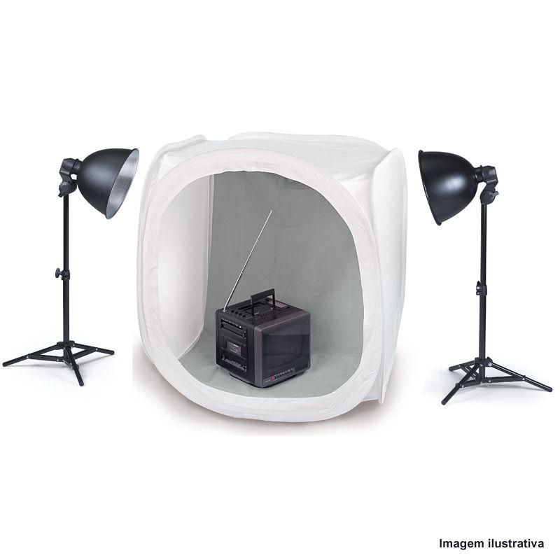 Tenda Difusora Dobrável Portátil Mini Estúdio - 80x80x80cm  - Diafilme Materiais Fotográficos