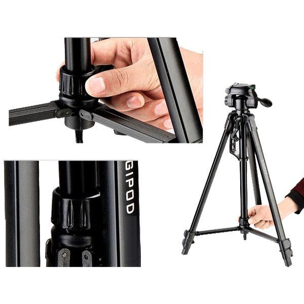 Tripé Câmera DSLR Vídeo - Digipod TR 564 - 1,45m  - Diafilme Materiais Fotográficos