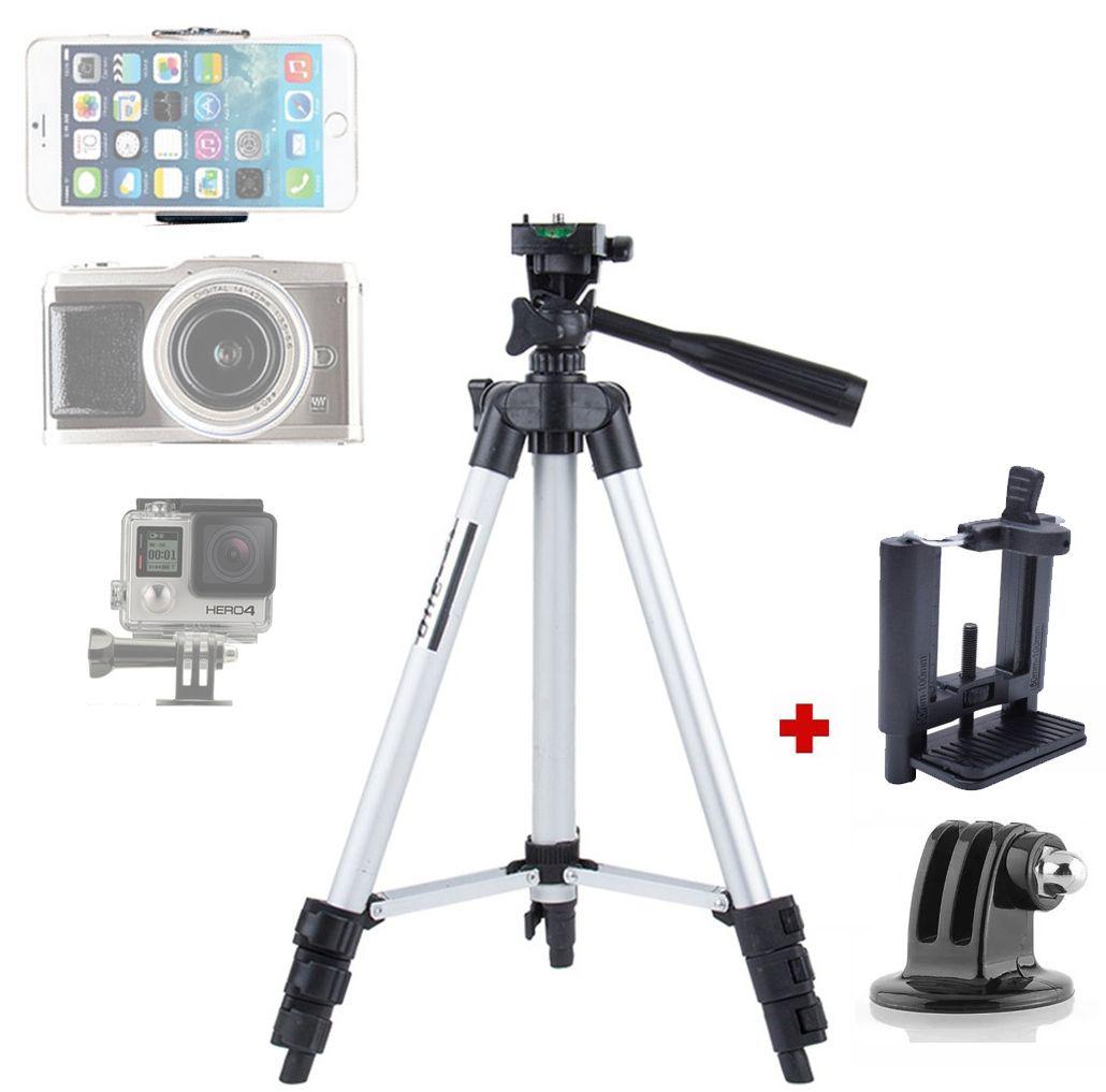 Tripé Câmera Foto Vídeo GOPRO Smartphone - TF-3110 - 1,02m  - Diafilme Materiais Fotográficos