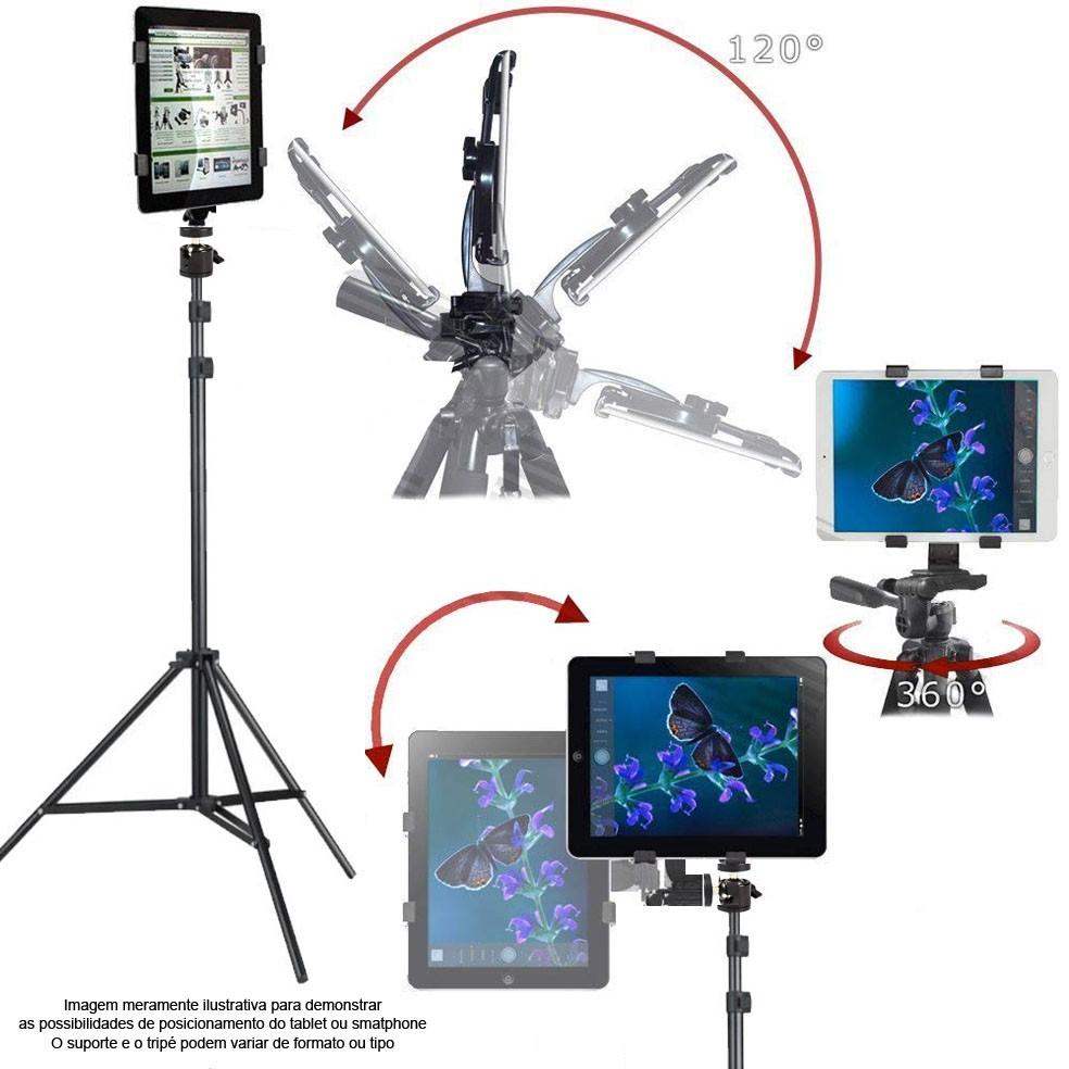Tripé com Cabeça de Bola e Suporte para Smartphone BJ019 - 2,0m  - Diafilme Materiais Fotográficos