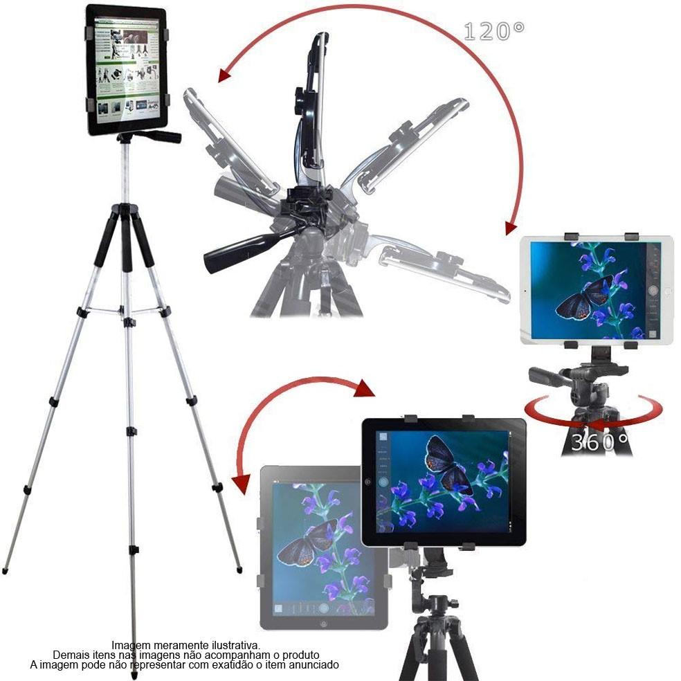Tripé com Cabeça de Bola e Suporte para Tablet - 2,6m  - Diafilme Materiais Fotográficos