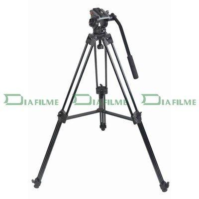 Tripé com Cabeça Fluida Câmera DSLR e Vídeo - DVTK-7018 - 5,0kg  - Diafilme Materiais Fotográficos