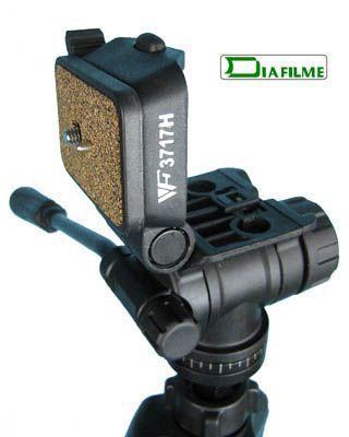 Tripé com Cabeça Fluida Câmera DSLR e Vídeo - Weifeng WT 3717 - 1,65m  - Diafilme Materiais Fotográficos
