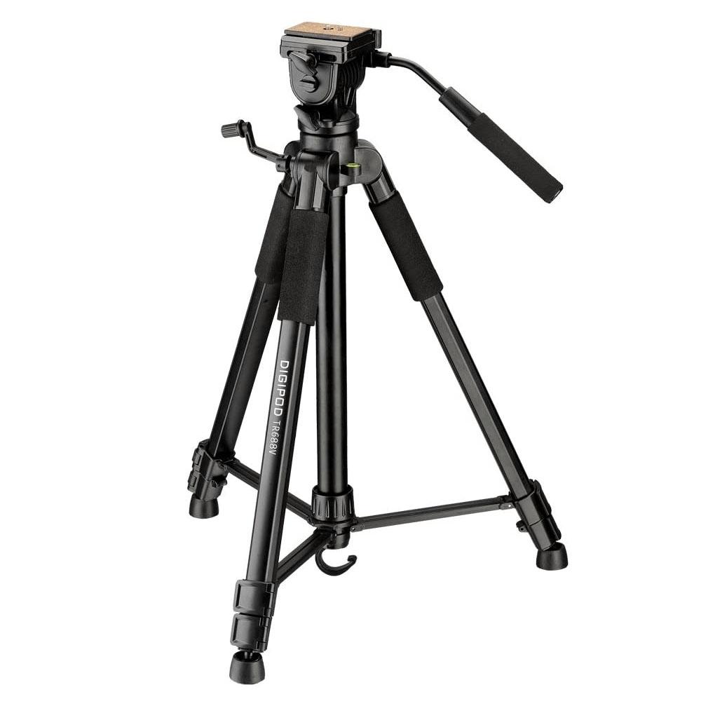 Tripé com Cabeça Fluída Câmera DSLR Vídeo - Digipod TR688V - 1,70m  - Diafilme Materiais Fotográficos