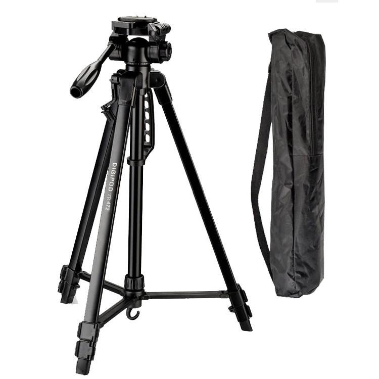 Tripé Digipod TR 472 com Suporte para Smartphone LW105  - Diafilme Materiais Fotográficos