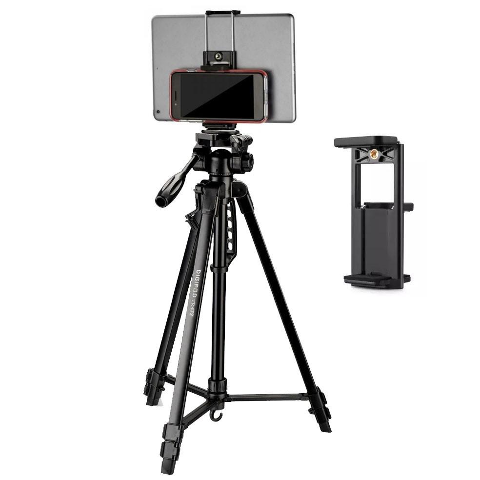 Tripé Digipod TR 472 com Suporte para Tablet e Smartphone BJ024  - Diafilme Materiais Fotográficos