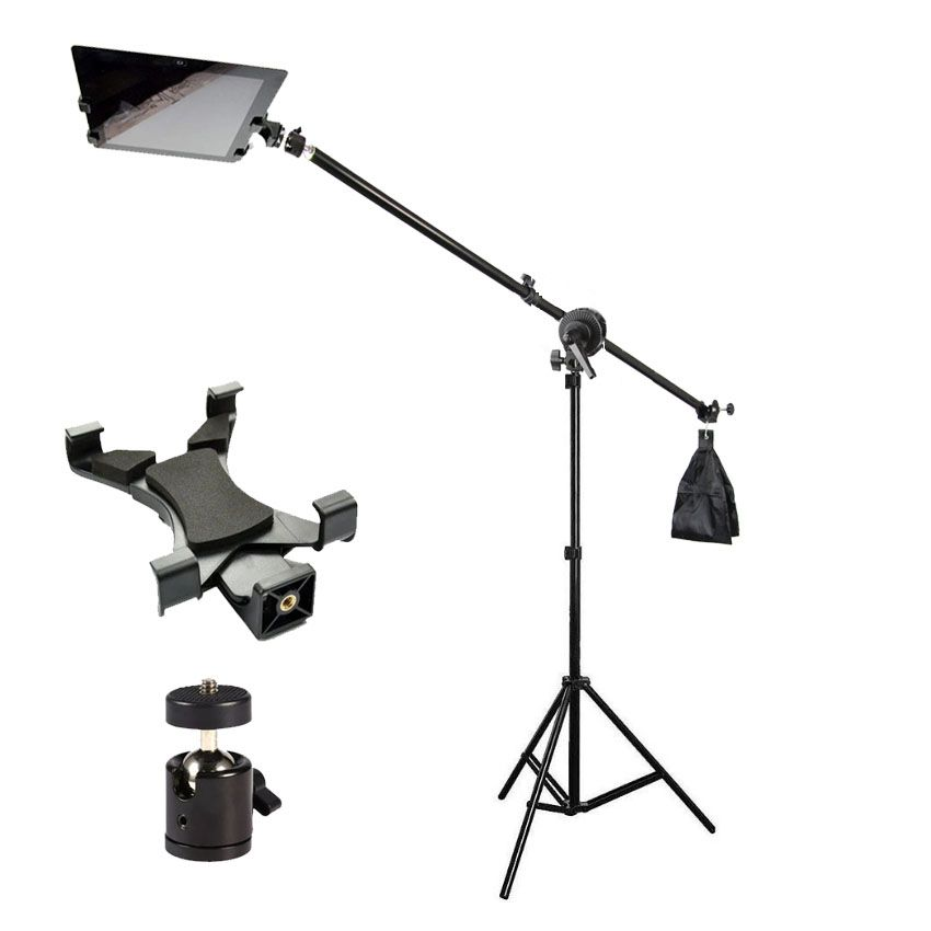 Tripé Girafa com Cabeça de Bola e Suporte para Tablet - 2,6m  - Diafilme Materiais Fotográficos