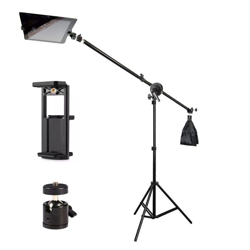 Tripé Girafa com Cabeça de Bola e Suporte para Tablet e Smartphone - 2,6m  - Diafilme Materiais Fotográficos
