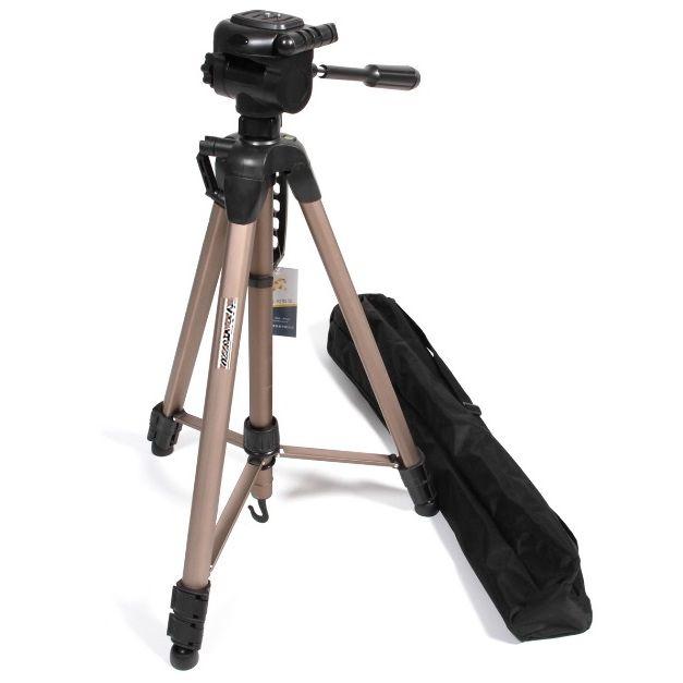 Tripé Câmera DSLR Vídeo - Weifeng WT 3770 - 1,66m  - Diafilme Materiais Fotográficos