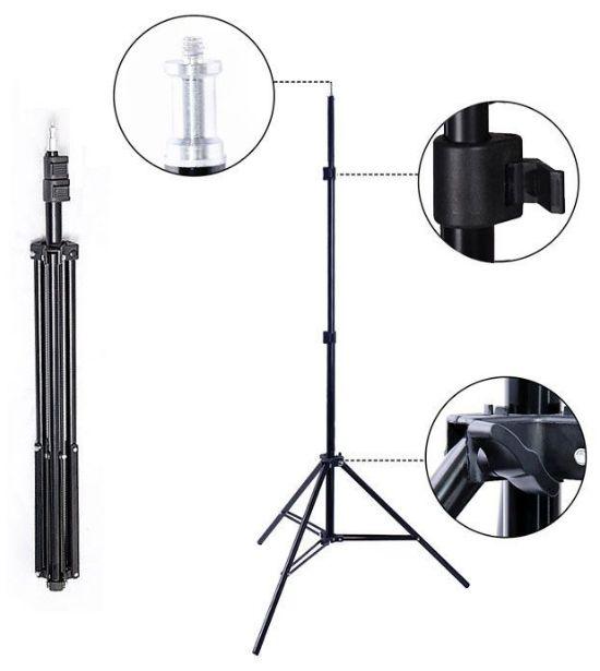Tripé para Iluminação de Estúdio - LS04 - 2,00m Kit 03 Unidades  - Diafilme Materiais Fotográficos