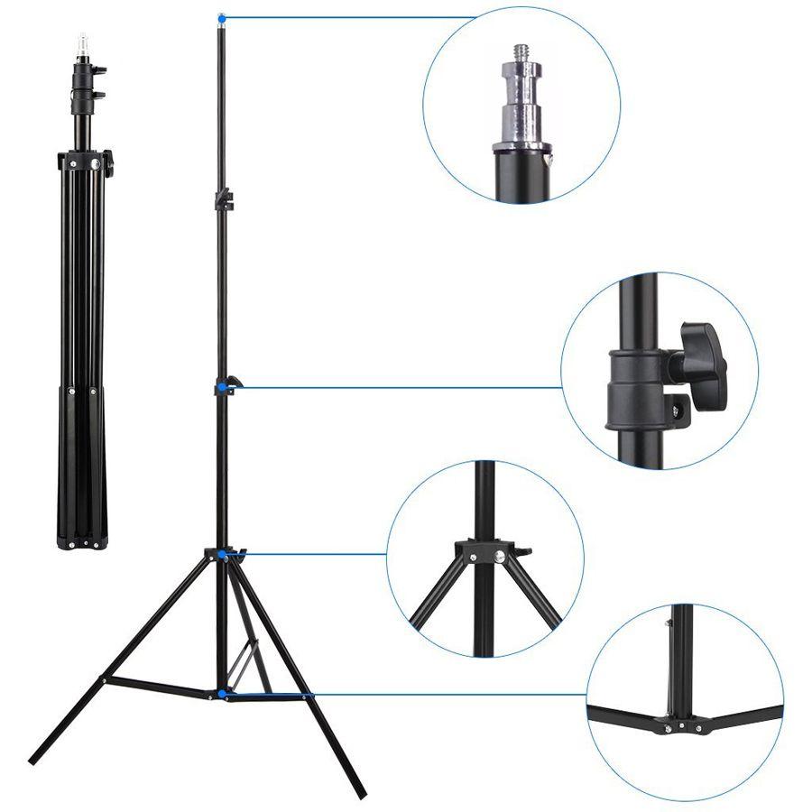 Tripé para Iluminação de Estúdio - LS04 - 2 Metros Kit 03 Unidades  - Diafilme Materiais Fotográficos