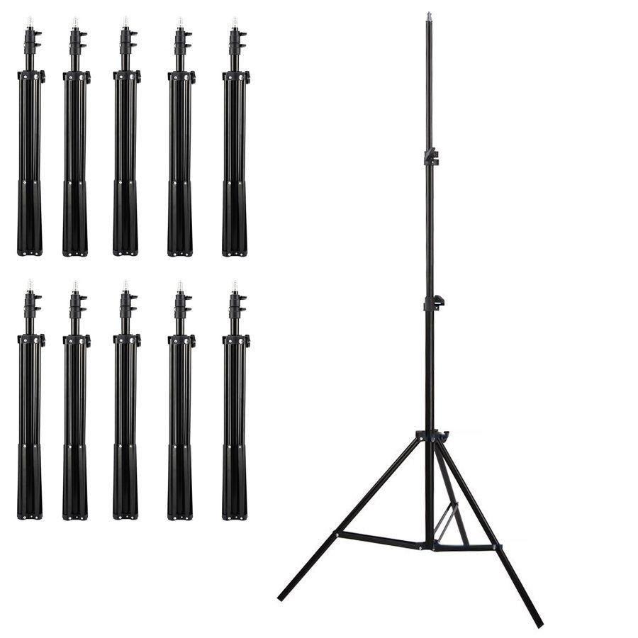 Tripé para Iluminação de Estúdio - LS04 - 2 Metros Kit 10 Unidades  - Diafilme Materiais Fotográficos