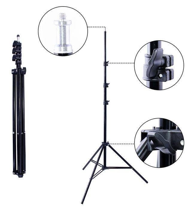Tripé para Iluminação de Estúdio - LS260 - 2,60m  - Diafilme Materiais Fotográficos