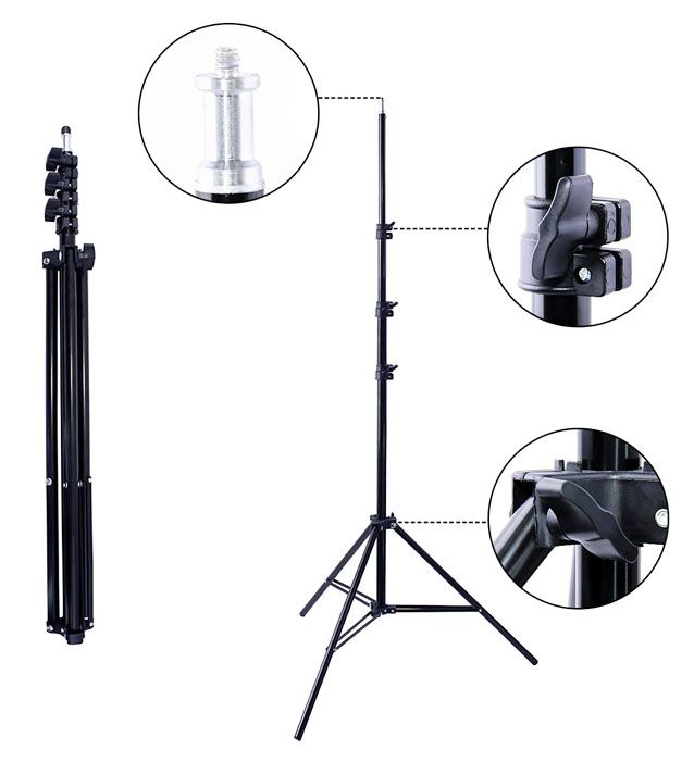 Tripé para Iluminação de Estúdio - LS260 - 2,60m Kit 06 Unidades  - Diafilme Materiais Fotográficos