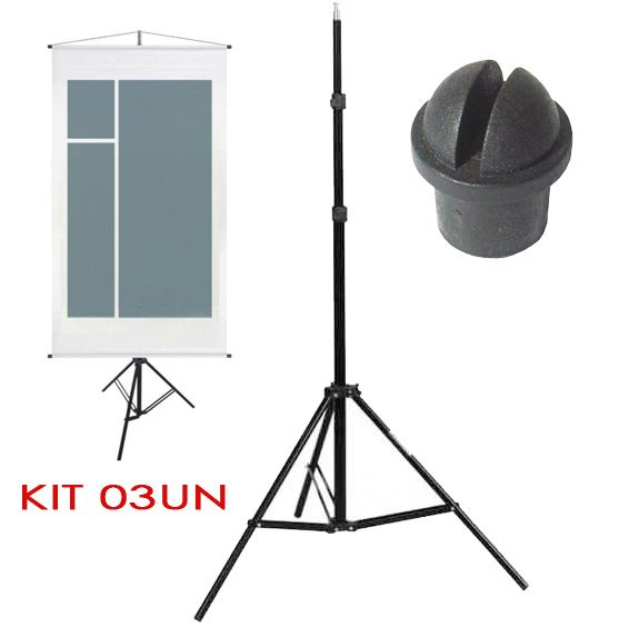 Tripe Porta Banner - LS230 - 2,30m Kit 03 Unidades  - Diafilme Materiais Fotográficos