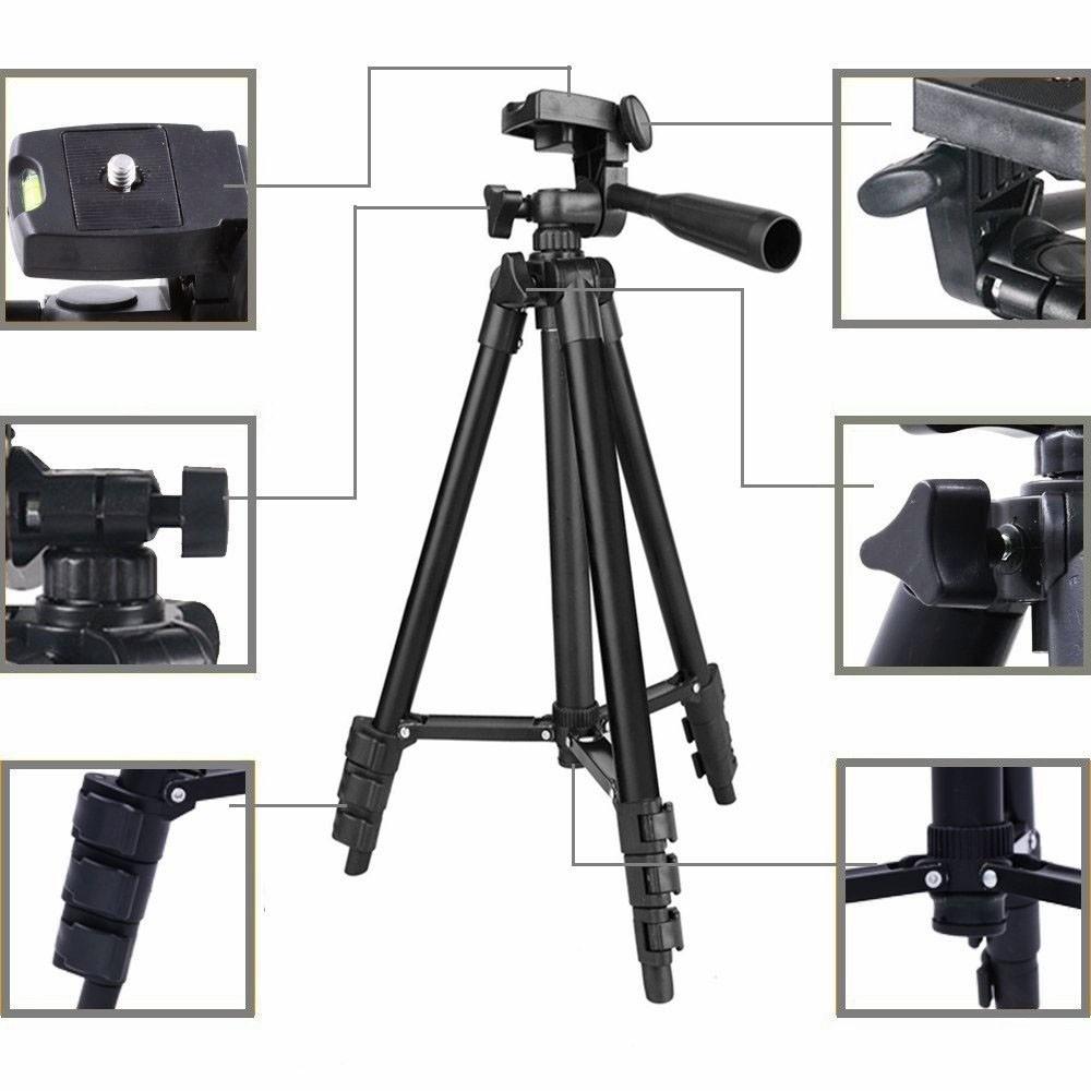 Tripé Tefeng TF 3110 com Suporte para Smartphone BJ019  - Diafilme Materiais Fotográficos