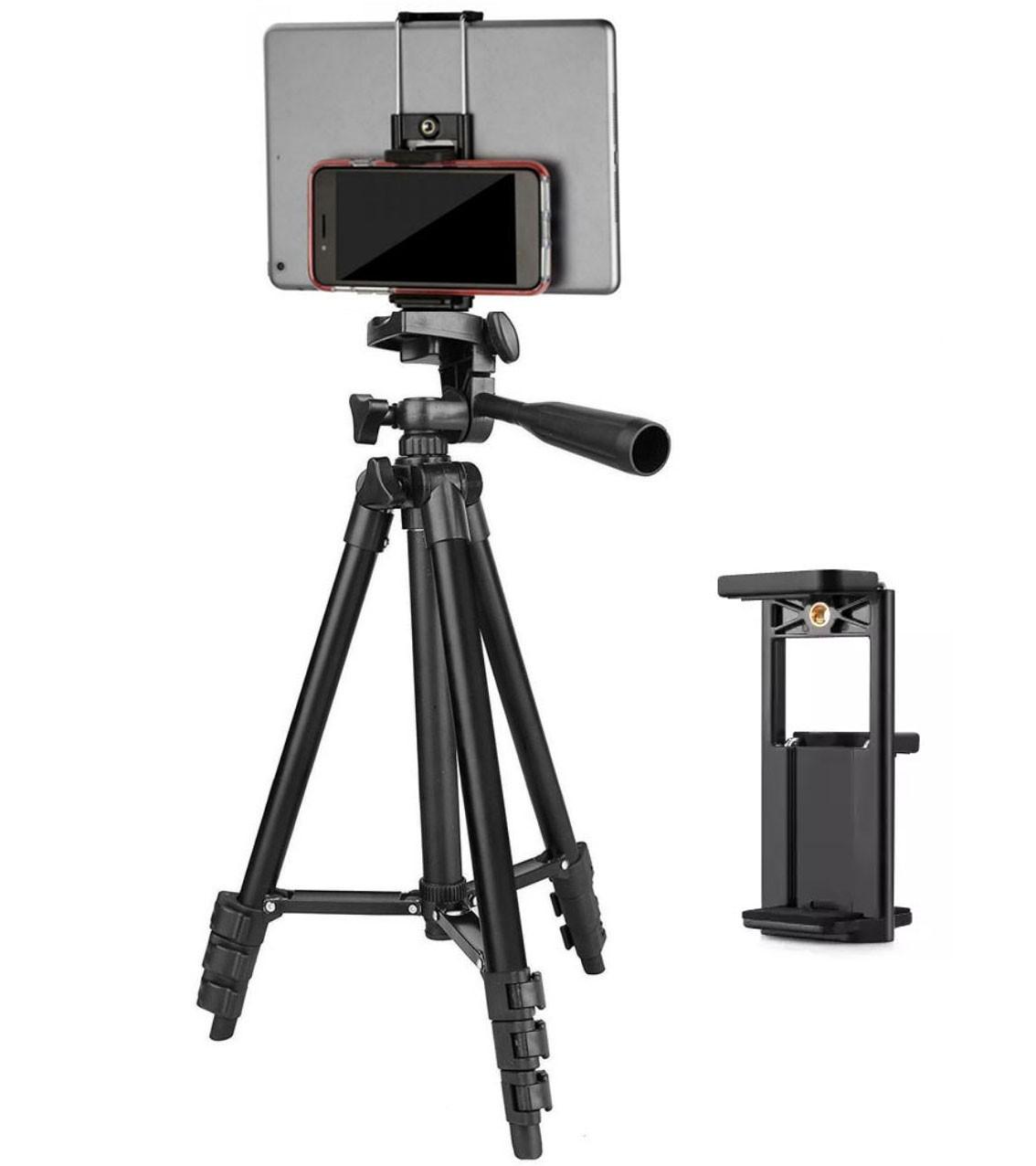 Tripé Tefeng TF 3110 com Suporte para Tablet e Smartphone  - Diafilme Materiais Fotográficos