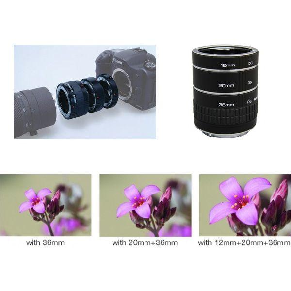 Tubo de Extensão Auto Macro Canon EOS  - Diafilme Materiais Fotográficos