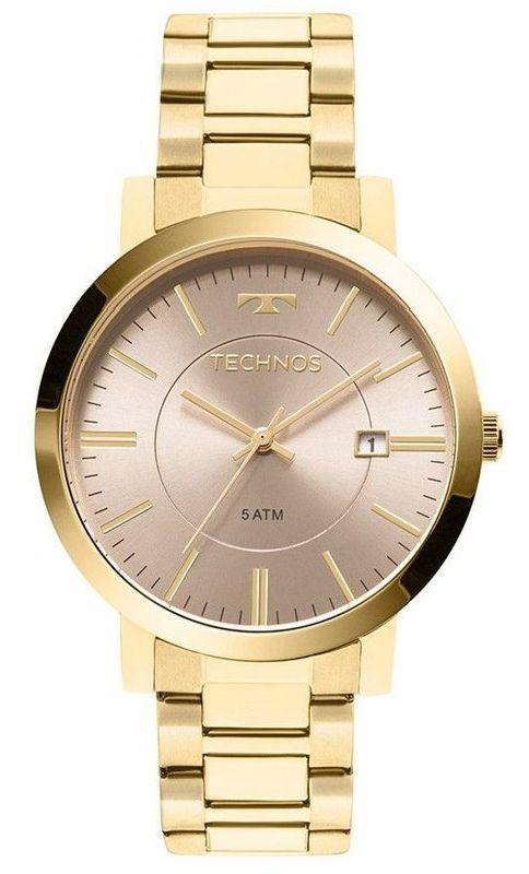 3282a77849f Relógio Technos 2115KZW 4M pulseira de aço dourado - Vanglore