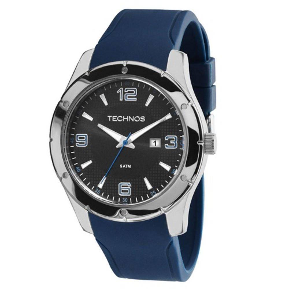 adb40e4828a Relógio Technos 2115MKS 8P aço pulseira de silicone azul - Vanglore