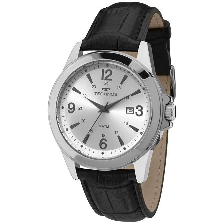 bc73068a5fa Relógio Technos 2115MLD 0C Aço Pulseira de couro - Vanglore