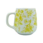 Caneca Branca Floral Amarela