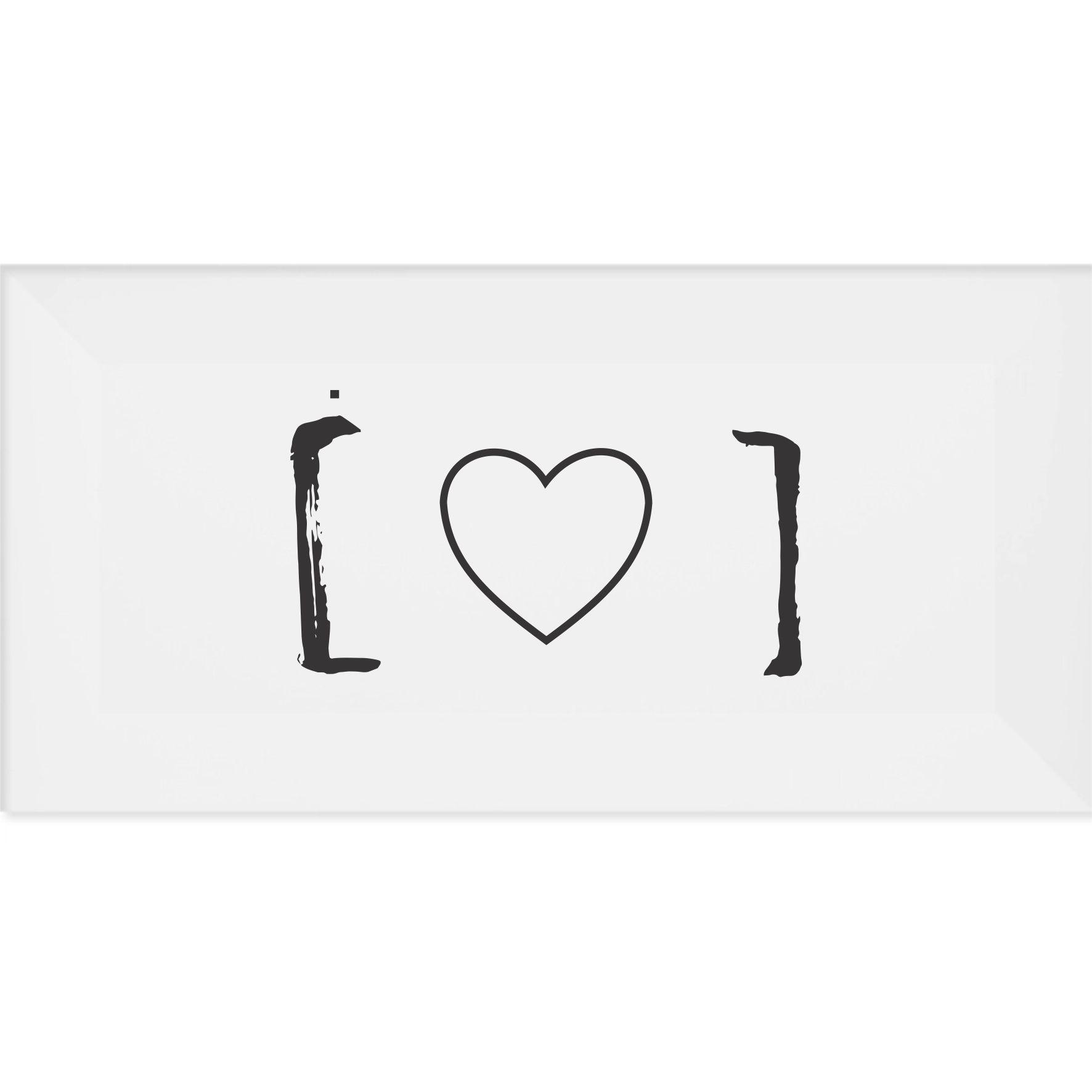 Azulejo Retangular [Coração]