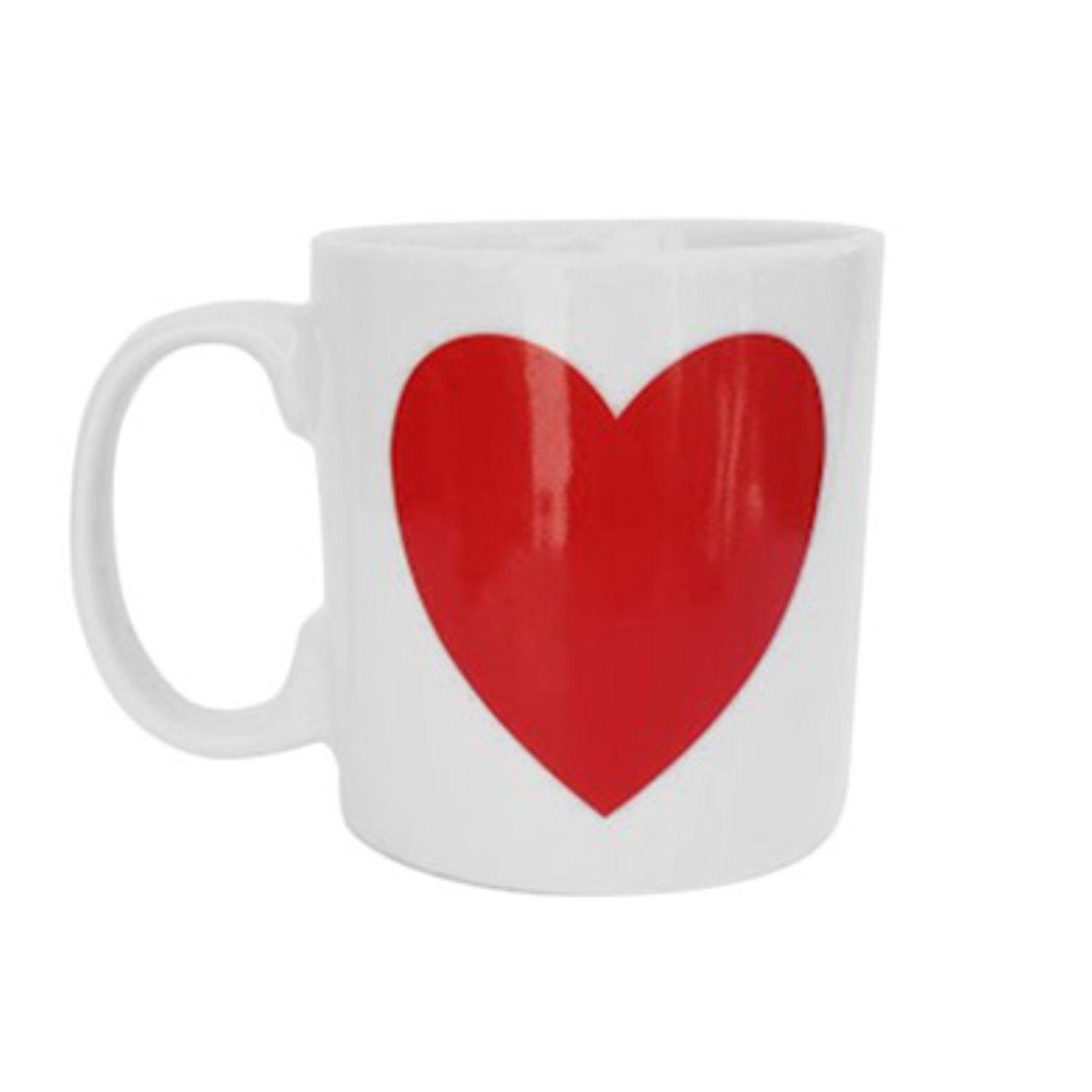 Caneca Decorativa Coração Vermelho