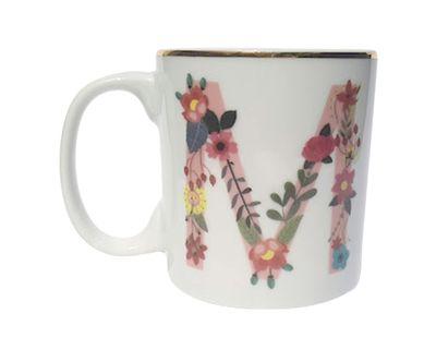 Caneca Letra Floral M