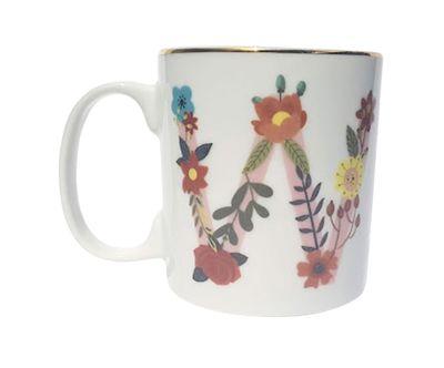 Caneca Letra Floral W