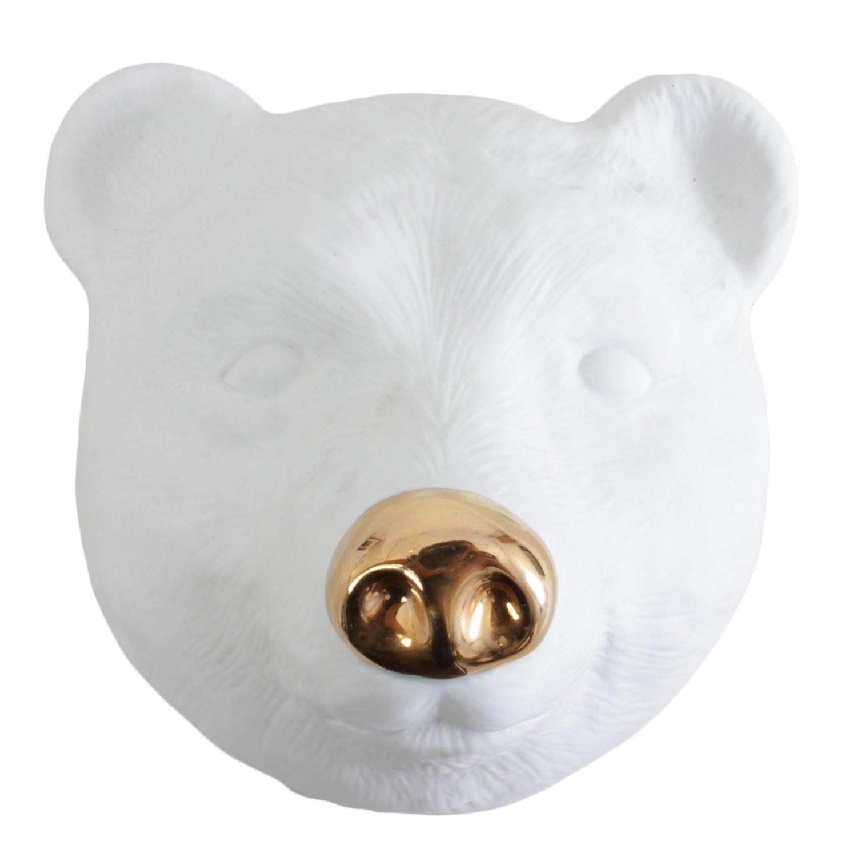 Máscara Urso Focinho Ouro