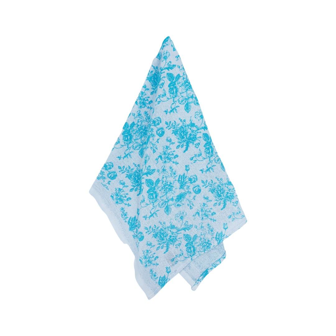 Pano de Prato Floral Azul