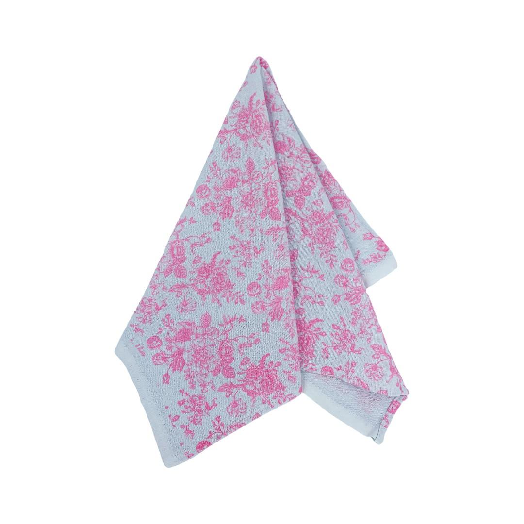 Pano de Prato Floral Rosa