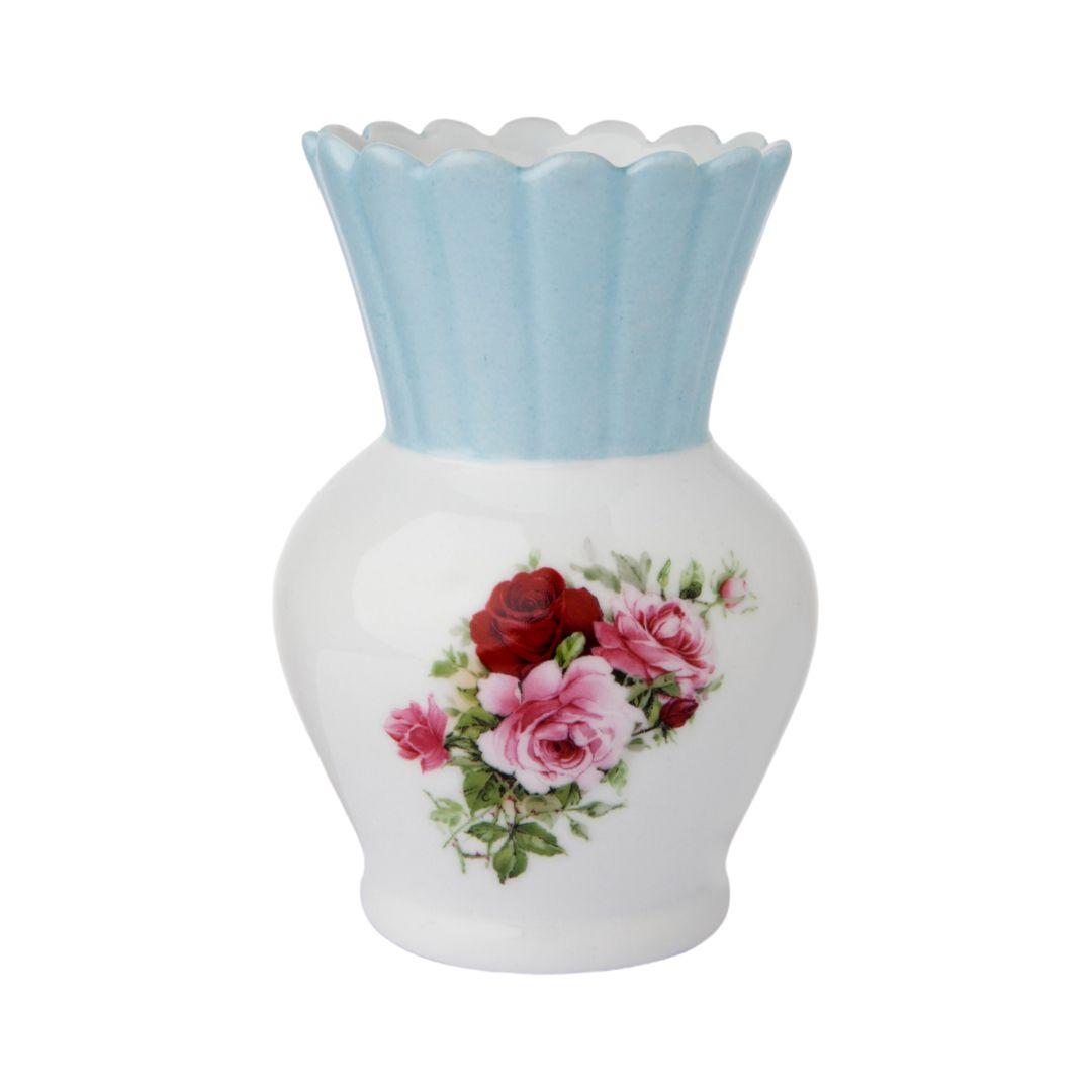 Vaso Abacaxi Floral Azul