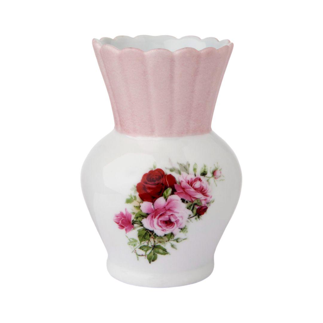 Vaso Abacaxi Floral Rosa
