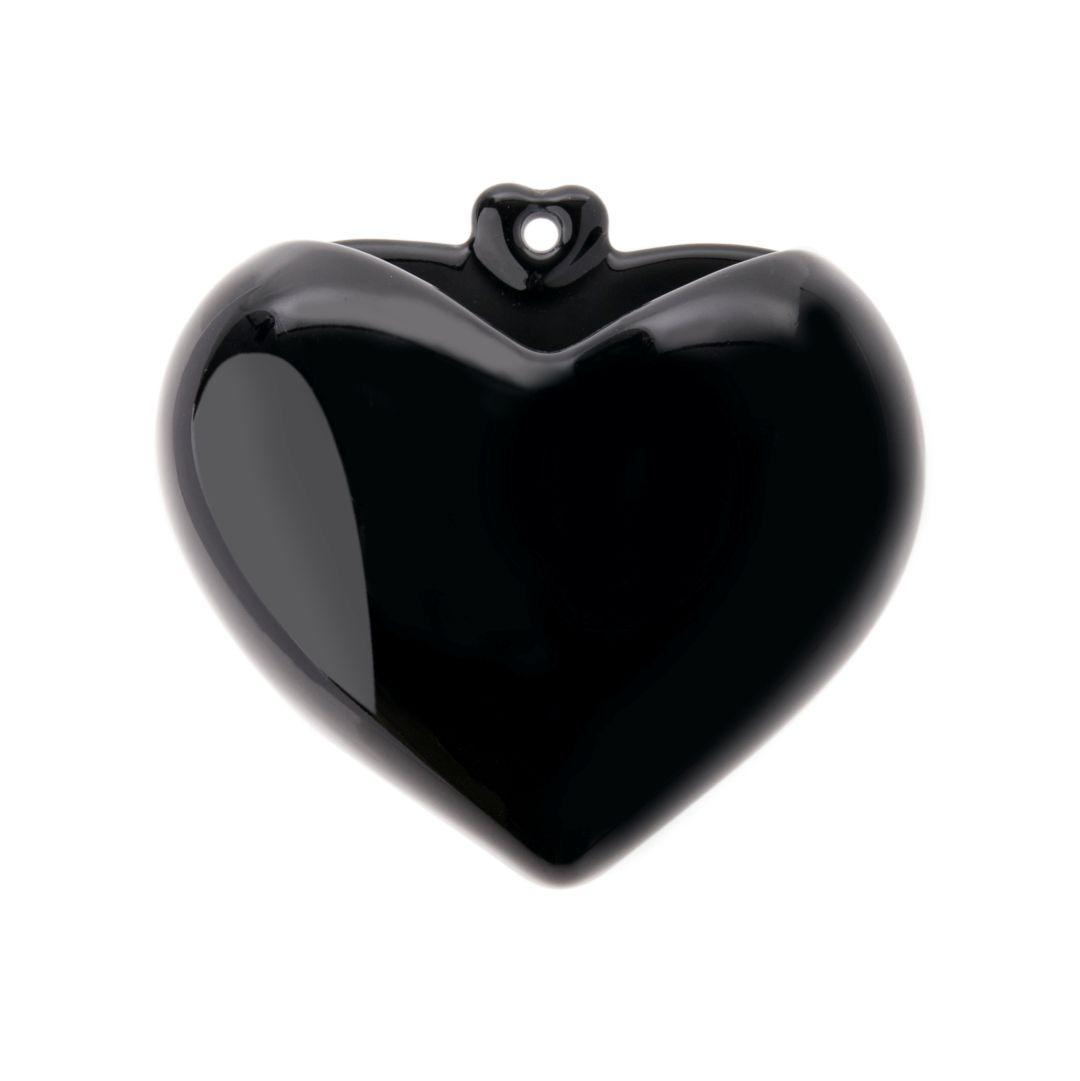 Vaso Coração - Coração Preto