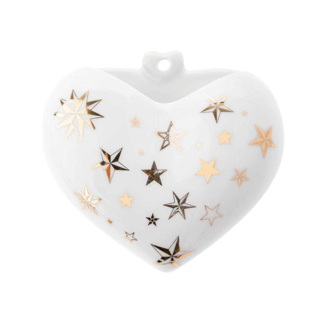 Vaso Coração - Estrela Ouro