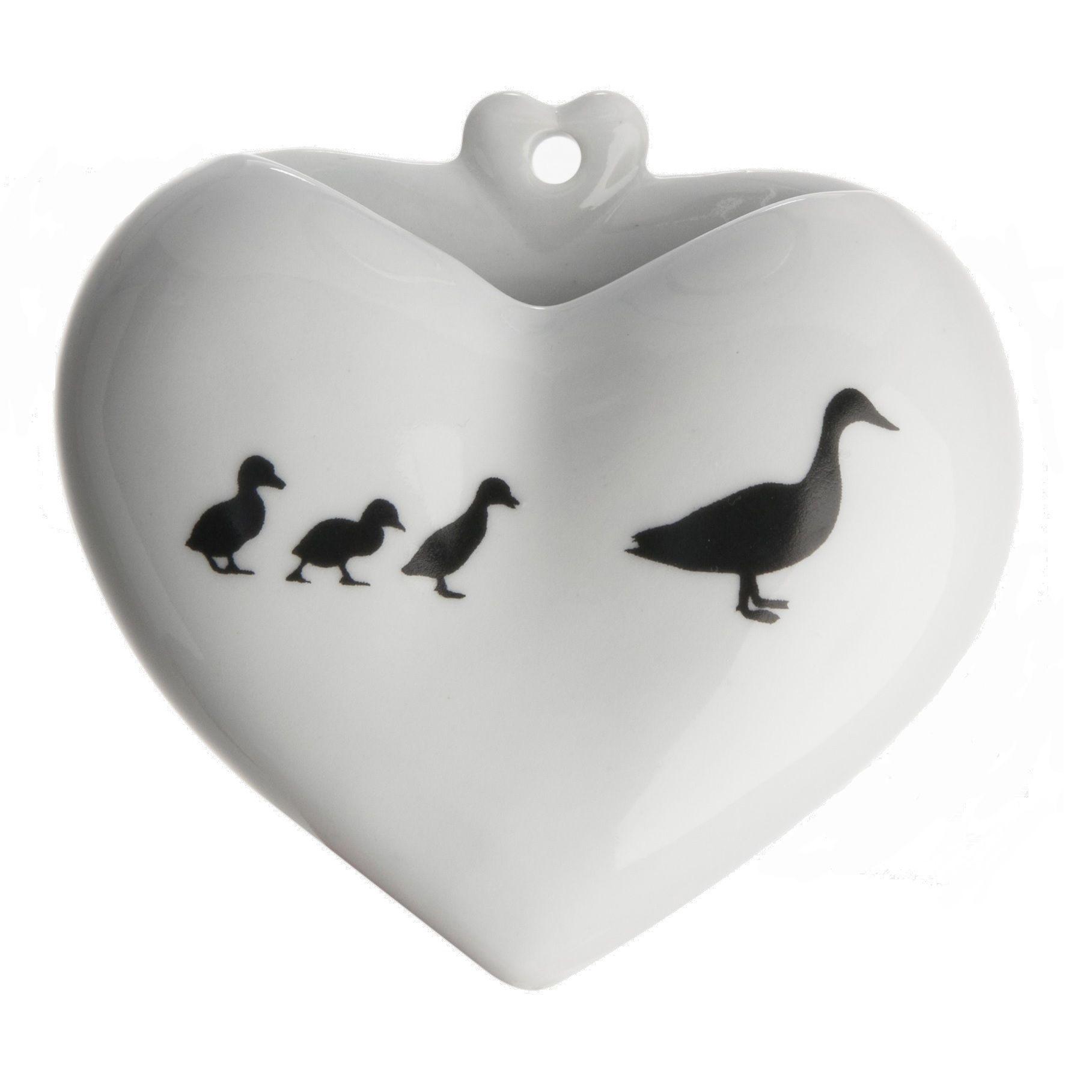Vaso Coração PB - Desenho - Patinhos