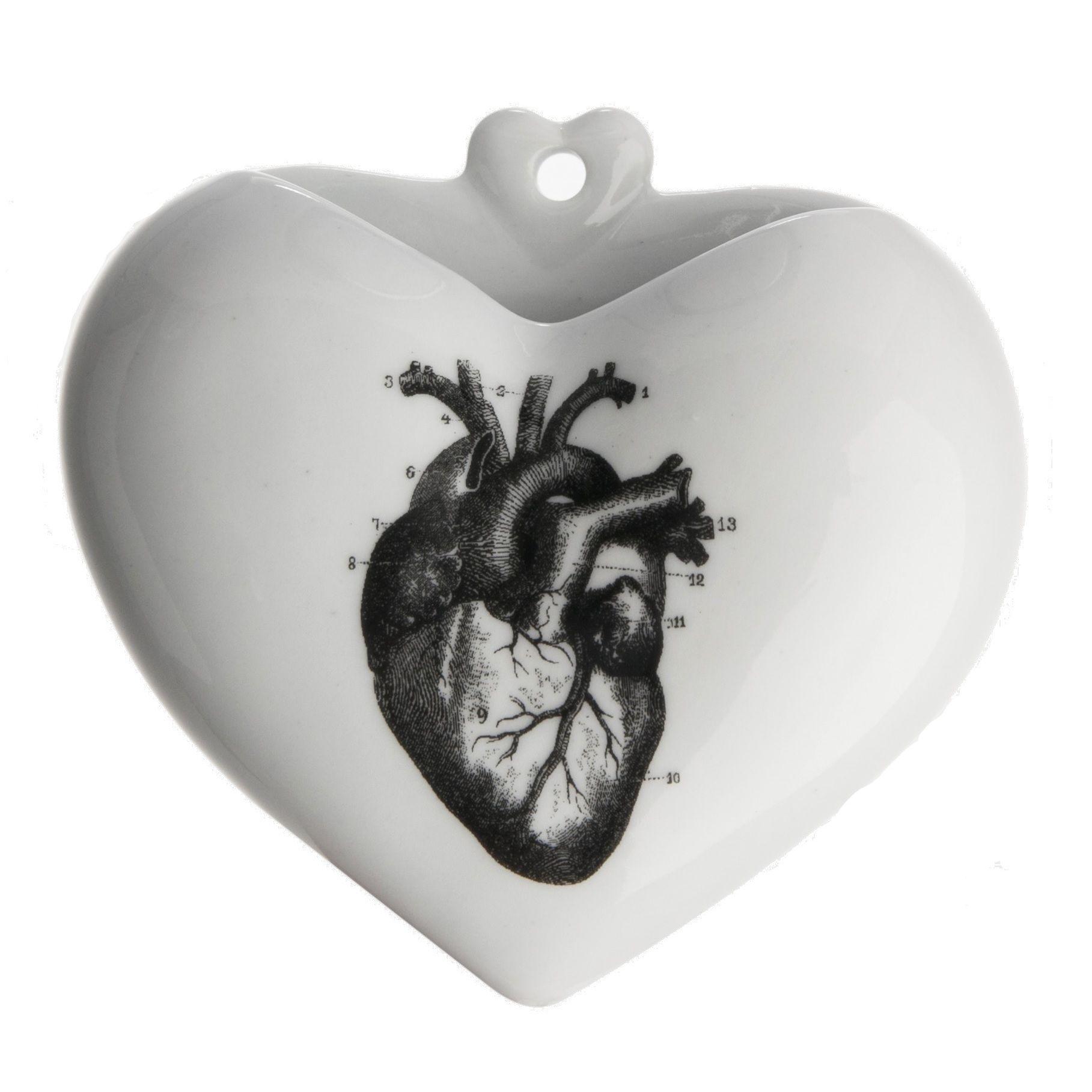 Vaso Coração PB - Desenhos - Coração