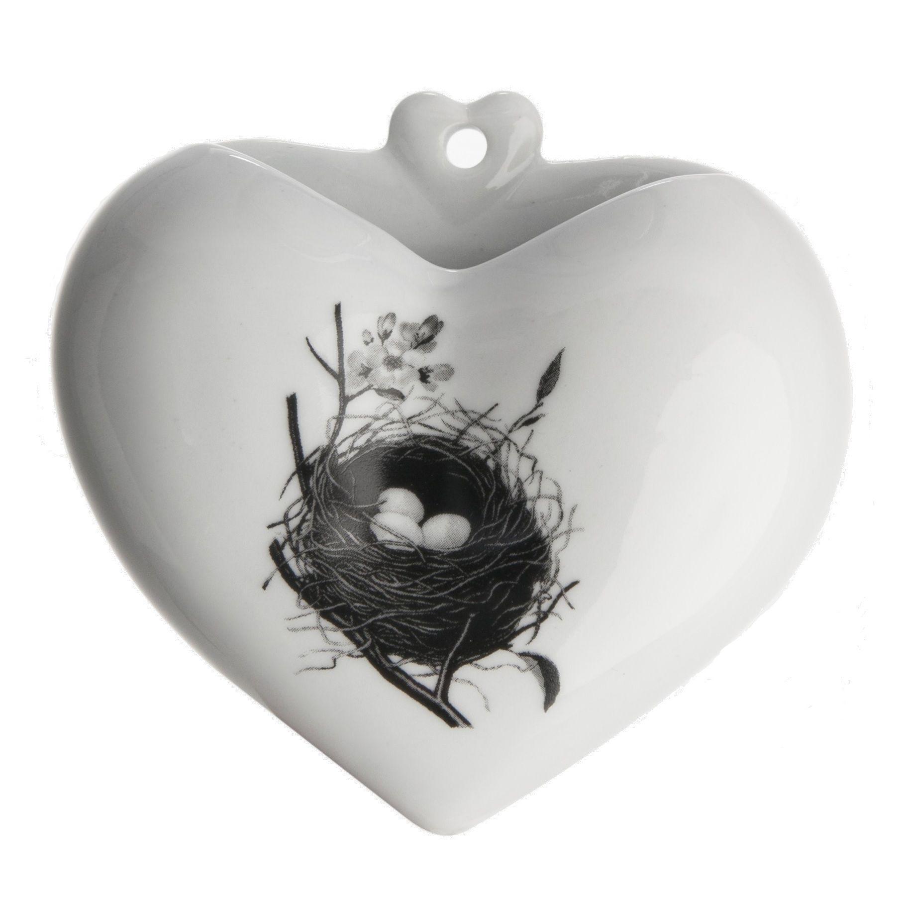 Vaso Coração PB - Desenhos - Ninho