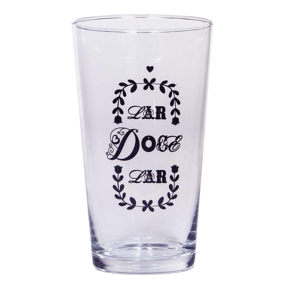 """Vaso de Vidro """"Lar Doce Lar"""""""