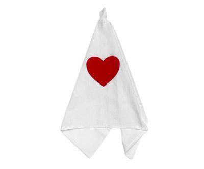 Pano de Prato Vermelho Coração