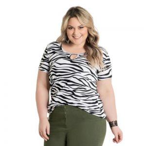 Blusa T-Shirt Animal Print Plus Size Marguerite