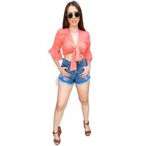 Short Roupas femininas curto Jeans Moda feminina